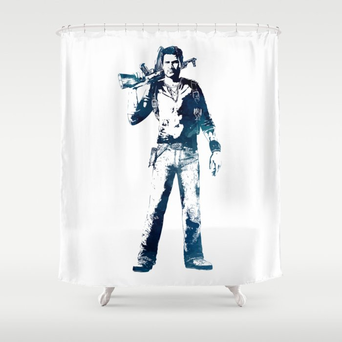 Nathan Drake Shower Curtain