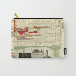 Chicago Railroad Map 1898 Carry-All Pouch
