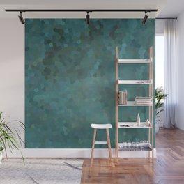 Abstract mosaic green landscape Wall Mural
