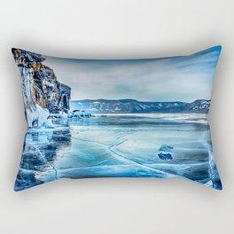 Lake Baikal. March Rectangular Pillow