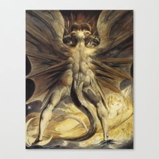 William Blake - The Great Red Dragon and the Woman Canvas Print
