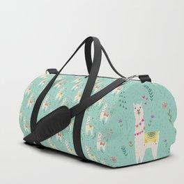 Festive Llama Duffle Bag