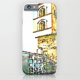Barbarano Romano: cemetery and bell tower iPhone Case