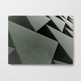 Green stone prisms pattern Metal Print