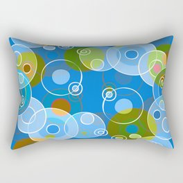 Blue Bubbles Rectangular Pillow