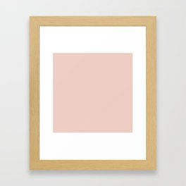 Blush - Solid Color Collection Framed Art Print