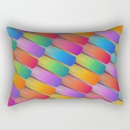 Colorful textured shapes pattern Rectangular Pillow