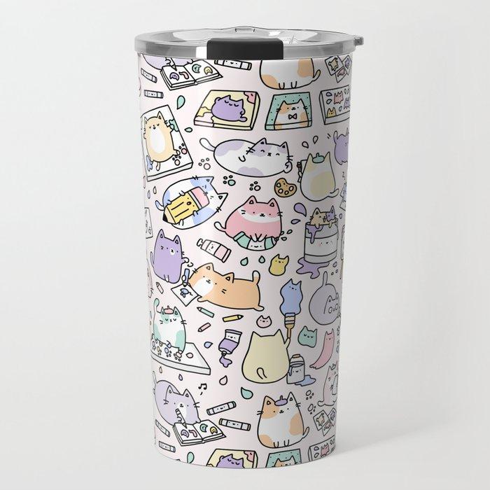 Artsy Cats Travel Mug