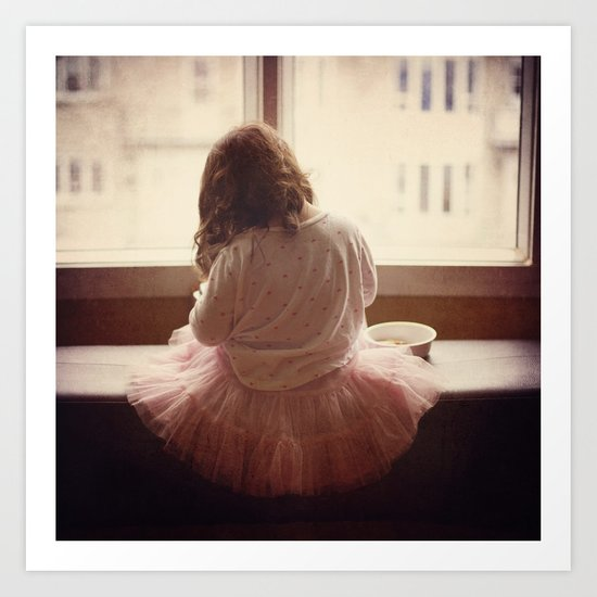 the daily life of a ballerine Art Print