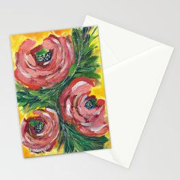 Acrylic Roses  Stationery Cards
