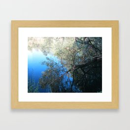 Abstract Nature in Blue Framed Art Print