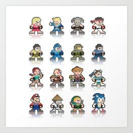 pixel games Art Print