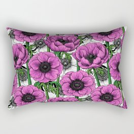 Pink anemone garden Rectangular Pillow