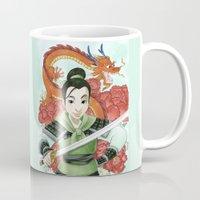 mulan Mugs featuring Mulan by Aimee Steinberger