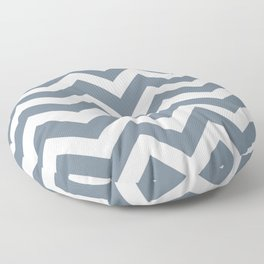 Slate gray - grey color - Zigzag Chevron Pattern Floor Pillow