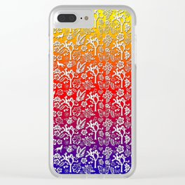 Rainbow White Joshua Tree by CREYES Clear iPhone Case