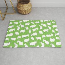 Green Goats Rug
