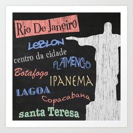 Rio De Janeiro Tourism Poster Art Print