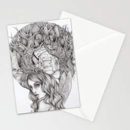 JennyMannoArt GRAPHITE DRAWING/FAIRIE Stationery Cards