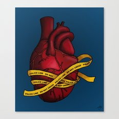 Heart of a Crime Scene Canvas Print