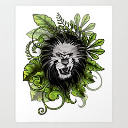 King of the Jungle Art Print