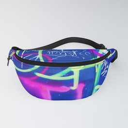 Blue Mood with Pink Language Fanny Pack