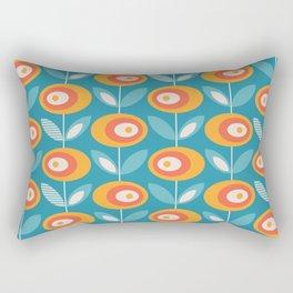 Mid Century Modern Flowers Rectangular Pillow