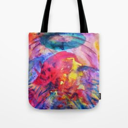 psychedelic angel corpes Tote Bag
