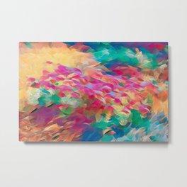 Floral Art Abstract Metal Print