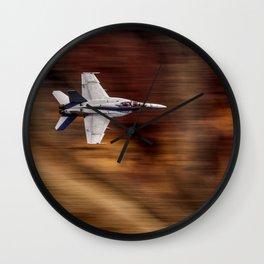 Jet Blur Rainbow Canyon 4-26-16 Wall Clock
