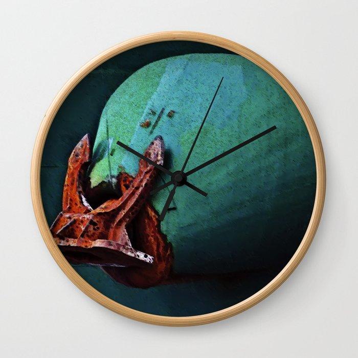 Freighter Anchor Wall Clock