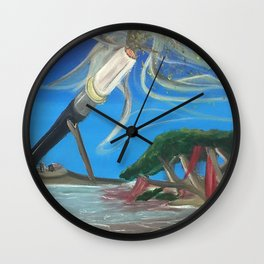 Strange Lands Ahead Wall Clock