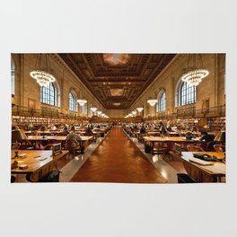 New York Public Library Rug