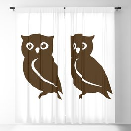 Little Brown Owl Blackout Curtain