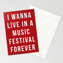 Live Music Festival Quote Stationery Cards