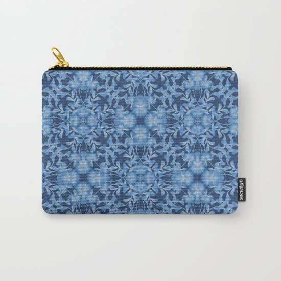 Blue floral ornament. Carry-All Pouch
