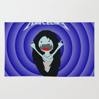 marceline Area & Throw Rugs featuring Metal Marceline by totemxtotem
