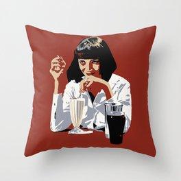 Mia Milk Shake Throw Pillow