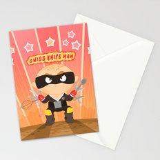 Swiss Knife Man Stationery Cards