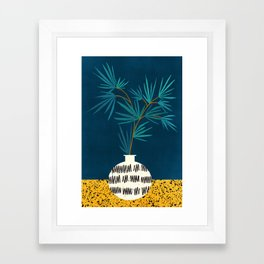 Night Palm Blues Framed Art Print