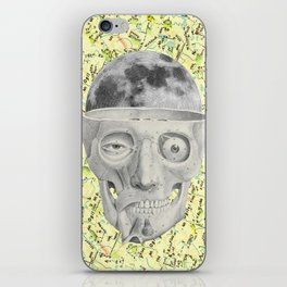poor skeleton steps out iPhone Skin