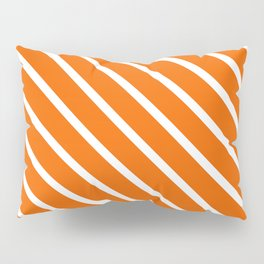 Pumpkin Diagonal Stripes Pillow Sham
