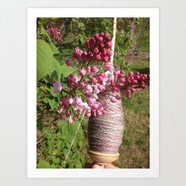Plying and Lilac Art Print