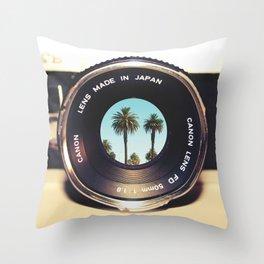 focus on palms Throw Pillow