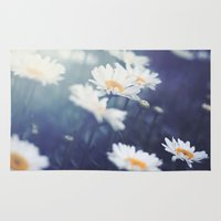 daisies Area & Throw Rugs featuring Daisies by Kameron Elisabeth