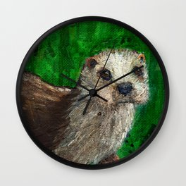 The Otter's Curiosity Wall Clock