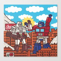 transformers Canvas Prints featuring Transformers by Zhenya Barsikestribu
