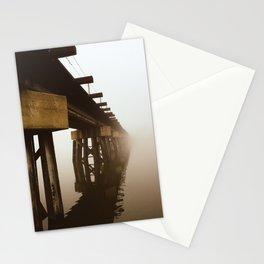 Train Bridge in the Fog-II Stationery Cards