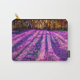 Purple Garden Carry-All Pouch