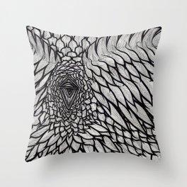 Crow's Scorn Throw Pillow